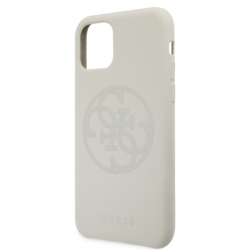 GUHCN61LS4GLG Guess 4G Silicone Tone Zadní Kryt pro iPhone 11 White