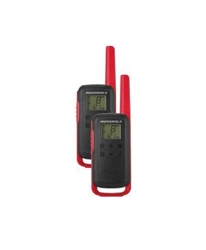 Vysielačka Motorola T42 twin-pack + nabíjačka červená