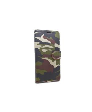 Diárové puzdro pre Xiaomi Redmi Note 9S/Note 9 Pro Camouflage zelené