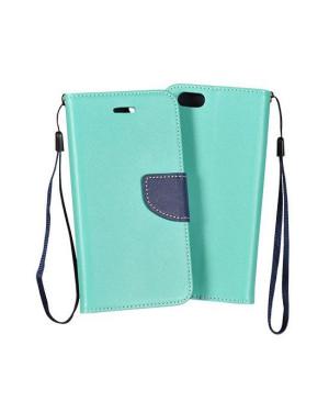 Diárové puzdro Smart Fancy pre SAM Galaxy S7 mentolové/modré