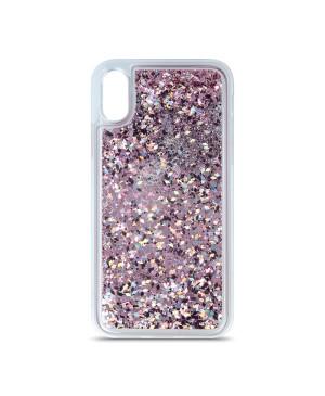 Silikónové puzdro na Samsung Galaxy A52/A52 5G Liquid Sparkle fialové