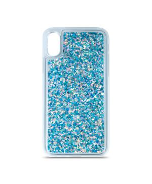 Silikónové puzdro na Samsung Galaxy A52/A52 5G Liquid Sparkle modré