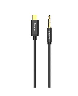 Audio kábel Baseus Yiven Aux M01 z USB-C na Aux 3,5mm 1,2 m čierny