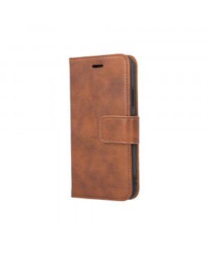 Kožené diárové puzdro Forever Classic pre Samsung Galaxy S10 hnedé