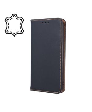 Kožené diárové puzdro na Huawei P40 Genuine Smart Pro čierne