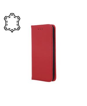 Kožené diárové puzdro na Xiaomi Redmi Note 9s/9 Pro/9 Pro Max Genuine Smart Pro bordové