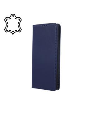 Kožené diárové puzdro na Apple iPhone 13 Mini Genuine Smart Pro modré