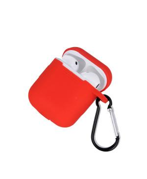 Silikónové puzdro pre Apple Airpods červené