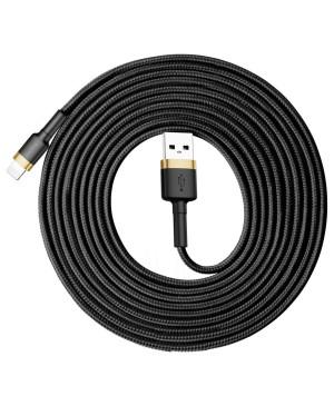 Kábel Baseus Cafule Opletený USB/Lightning 8 pin, 2A, 3m - čierno-zlatý