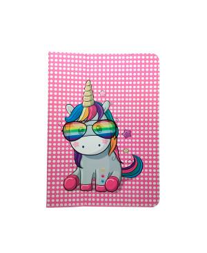 """Univerzálne puzdro Rainbow Unicorn pre tablet 7-8"""" ružové"""