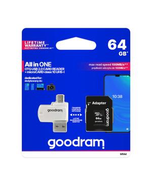 Pamäťová karta + adaptér GOODRAM microSDHC 64GB class 10 UHS I