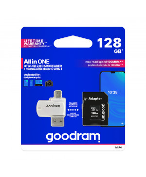 Adaptér GOODRAM microSDHC 128GB class 10 UHS I