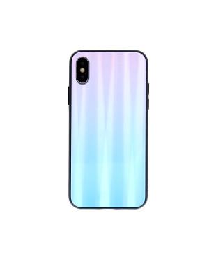 Plastové puzdro na Huawei P40 Aurora Glass modro-ružové