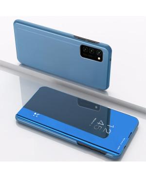 Diárové puzdro Smart Clear View pre Samsung Galaxy A12 modré