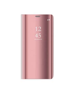 Diárové puzdro na Samsung Galaxy A42 5G Clear View ružové