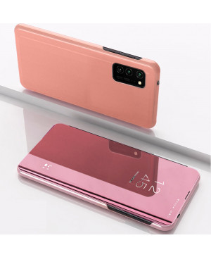 Diárové puzdro Clear View pre Huawei Y5 2019/Honor 8S ružové