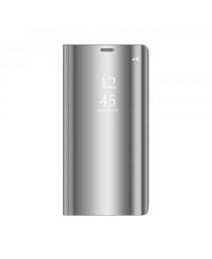 Diárové puzdro na Xiaomi Redmi 9A/9AT/9C/9i Clear View strieborné