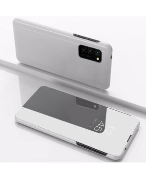 Diárové puzdro Smart Clear View pre Xiaomi Redmi Note 9S/9 pro strieborné