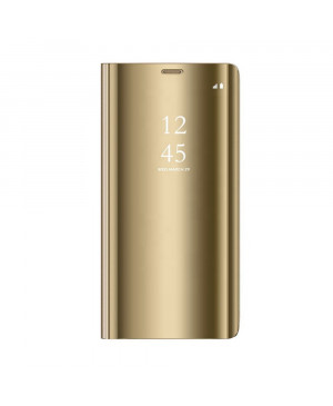 Diárové puzdro na Samsung Galaxy A03s A037 Clear View zlaté