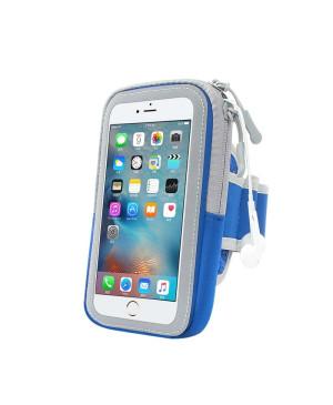"""Puzdro na rameno Zipper 6"""" modro-sivé"""