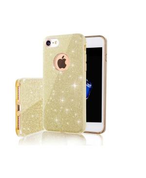 Silikónové puzdro pre Samsung Galaxy A71 Glitter 3in1 zlaté