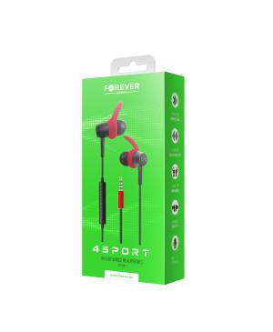 Slúchadlá Wired earphones Forever 4Sport SP-100 červené