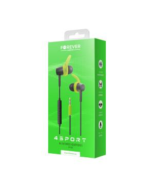 Slúchadlá Wired earphones Forever 4Sport SP-100 zelené