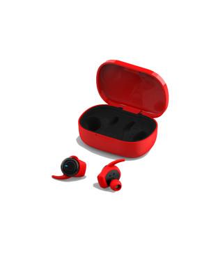 Slúchadlá bluetooth earbuds Forever 4Sport  TWE-300 červené