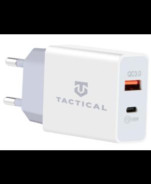 Sieťová nabíjačka Tactical AR-PD 30 W USB-A/USB-C QC 3.0 3.4 A biela
