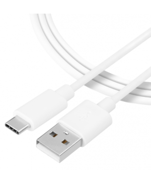 Kábel Tactical Smooth Thread USB-A/USB-C 0.3 m biely