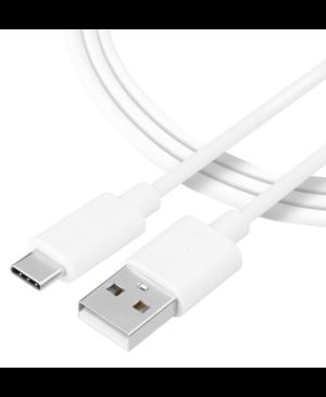 Kábel Tactical Smooth Thread USB-A/USB-C 1 m biely