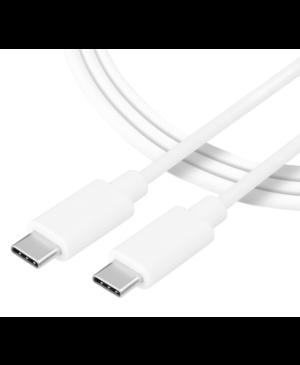 Kábel Tactical Smooth Thread USB-C/USB-C 1 m biely