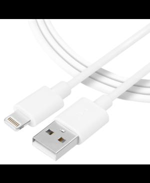 Kábel Tactical Smooth Thread USB-A/Lightning 2 m biely