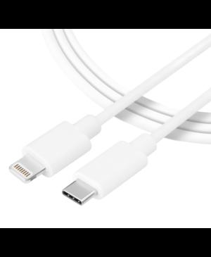 Kábel Tactical Smooth Thread USB-C/Lightning 0.3 m biely