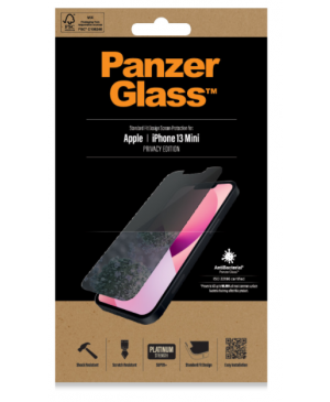 Tvrdené sklo na Apple iPhone 13 mini PanzerGlass Standard Fit Privacy AB