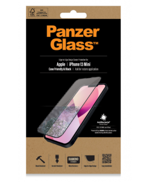 Tvrdené sklo na Apple iPhone 13 mini PanzerGlass Case Friendly AB čierne