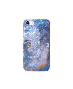 Silikónové puzdro na Samsung Galaxy A21s Marble design 8 modré