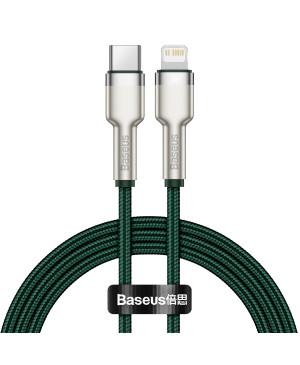 Dátový kábel Baseus Cafule Metal USB-C - Lightning  20W 1,0 m zelený