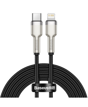 Dátový kábel Baseus Cafule Metal USB-C - Lightning  20W 2,0 m čierny