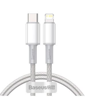 Dátový kábel Baseus High Density PD USB-C - Lightning 1,0 m 20W biely