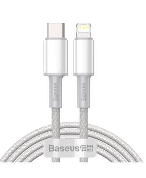 Dátový kábel Baseus High Density PD USB-C - Lightning 2,0 m 20W biely