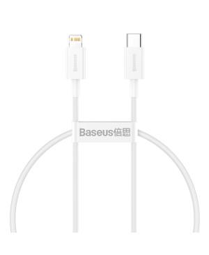 Dátový kábel Baseus Superior PD USB-C - Lightning 0,25 m 20W biely