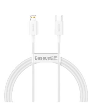 Dátový kábel Baseus Superior PD USB-C - Lightning 1,0 m 20W biely