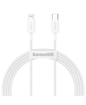 Dátový kábel Baseus Superior PD USB-C - Lightning 1,5 m 20W biely