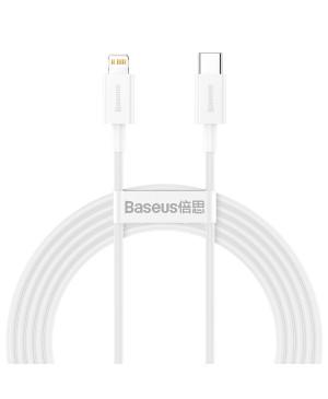 Dátový kábel Baseus Superior PD USB-C - Lightning 2,0 m 20W biely