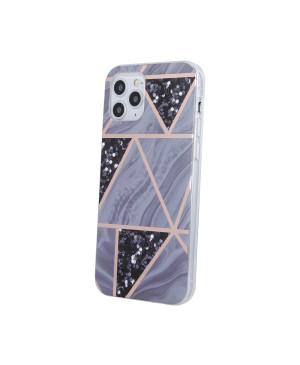 Silikónové puzdro na Apple iPhone 12/12 Pro Geometric Marmur fialové