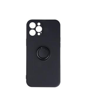 Silikónové puzdro na Xiaomi Redmi Note 9S/9 Pro/9 Pro Max Finger Grip čierne