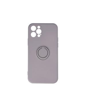 Silikónové puzdro na Xiaomi Redmi Note 9S/9 Pro/9 Pro Max Finger Grip sivé
