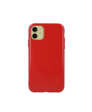 Silikónové puzdro na Apple iPhone 13 Mini Jelly trblietavé červené