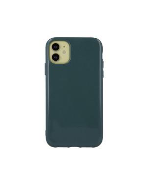 Silikónové puzdro na Apple iPhone 13 Mini Jelly trblietavé zelené